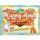 Nostalgic Art Tin Sign Happy Hour 20x15