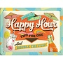 Nostalgic Art Tin Sign Happy Hour 20x15