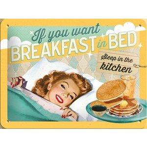 Nostalgic Art Tin Sign Breakfast In Bed 20x15