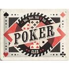 Nostalgic Art Tin Sign Poker Club 20x15