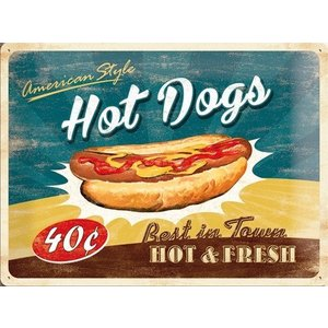 Nostalgic Art Tin Sign Hot Dogs 40x30