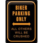Nostalgic Art Tin Sign Biker Parking Only 30x40