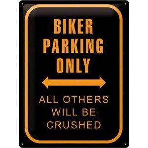 Nostalgic Art Tin Sign Biker Parking Only 30x40