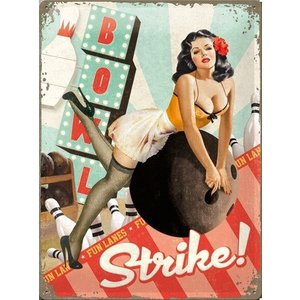 Nostalgic Art Tin Sign Strike 30x40