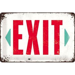 Nostalgic Art Tin Sign Exit 30x20