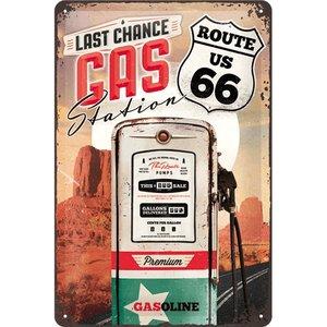 Nostalgic Art Tin Sign Route 66 Last Change Gas Station 20x30