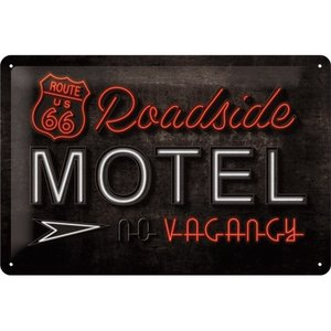 Nostalgic Art Tin Sign Route 66 Roadside Motel 30x20