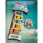 Nostalgic Art Tin Sign The Blue Star Motel Route 66 30x40