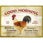 Nostalgic Art Tin Sign Good Morning 40x30