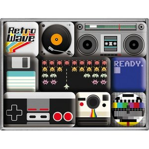 Nostalgic Art Magneetset Retro Media (9x)