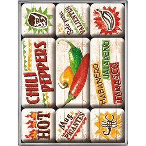 Nostalgic Art Magneetset Chili Peppers (9x)