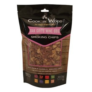 Cook In Wood Oak Grits Wine BBQ Smoking Chips