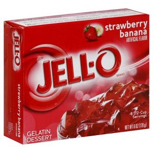 JELL-O Strawberry Banana Gelatine Dessert