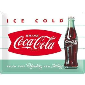 Nostalgic Art Tin Sign Coca-Cola 1960 Diner Bottle 40x30