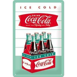 Nostalgic Art Tin Sign Coca-Cola 1960 Diner 6 pack 20x30