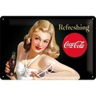 Nostalgic Art Tin Sign Coca-Cola Beauties Refreshing 30x20