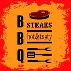 Duni BBQ Steaks servetten 20x 33x33cm