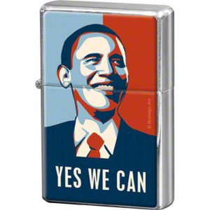 Nostalgic Art Metalen aansteker Obama Yes We Can