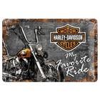 Nostalgic Art Tin Sign Harley Davidson My Favorite Ride 30x20