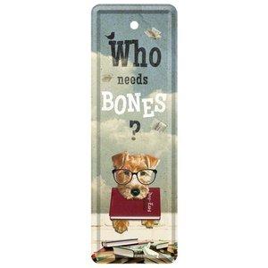 Nostalgic Art Boekenlegger Who Needs Bones