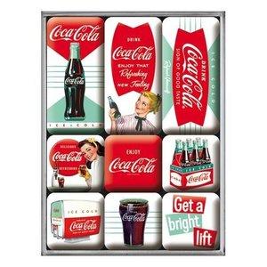 Nostalgic Art Magneetset Coca Cola - Diner (9x)