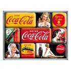 Nostalgic Art Magneetset Coca-Cola - Yellow Mix (9x)