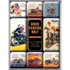 Nostalgic Art Magneetset Biker Parking Only (9x)