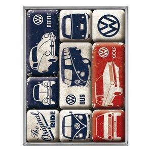 Nostalgic Art Magneetset VW Volkswagen - The Original Ride (9x)
