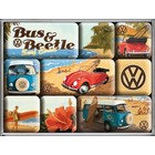Nostalgic Art Magneetset Volkswagen Beach (9x)