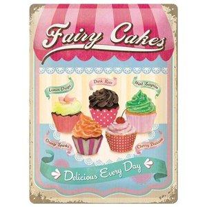 Nostalgic Art Tin Sign 30x40 Fairy Cakes