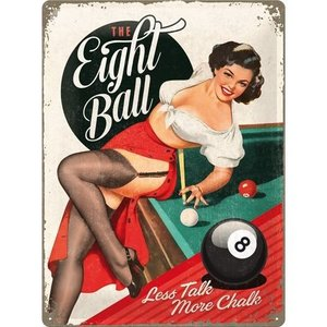Nostalgic Art Tin Sign 30x40 Pin Up The Eight Ball