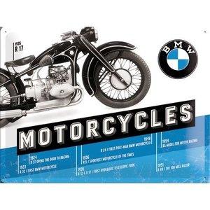 Nostalgic Art Tin Sign 40x30 BMW Timeline