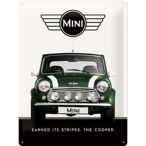 Nostalgic Art Tin Sign 30x40 Mini Cooper Green