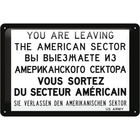Nostalgic Art Tin Sign American Sector 30x20