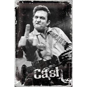 Nostalgic Art Tin Sign 20x30 Johnny Cash - Finger