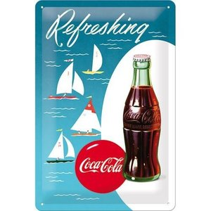 Nostalgic Art Tin Sign 20x30 Coca-Cola - Bottle Hero Poster - Sailing Boats