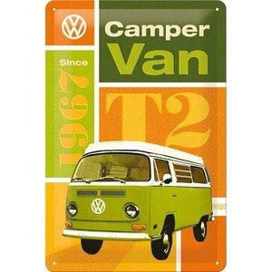 Nostalgic Art Tin Sign 20x30 Volkswagen T2 Camper Van