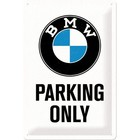 Nostalgic Art Tin Sign BMW Parking 20x30