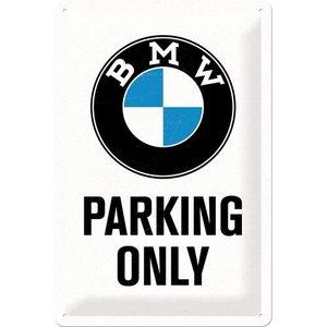 Nostalgic Art Tin Sign 20x30 BMW Parking