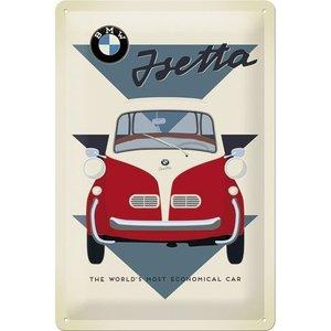 Nostalgic Art Tin Sign 20x30 BMW Isetta Car
