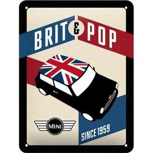 Nostalgic Art Tin Sign 15x20 Mini Brit Pop