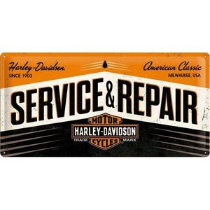 Nostalgic Art Tin Sign 50x25 Harley Davidson Service and Repair