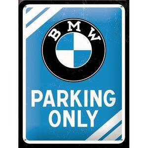 Nostalgic Art Tin Sign BMW Parking Only 15x20