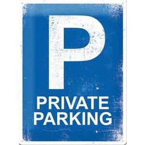 Nostalgic Art Tin Sign Private Parking 30x40