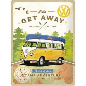 Nostalgic Art Tin Sign VW Bulli Get Away 30x40