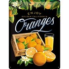 Nostalgic Art Tin Sign Enjoy California Oranges 30x40