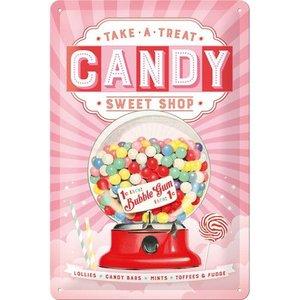 Nostalgic Art Tin Sign Candy Sweet Shop 20x30