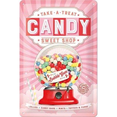 Nostalgic Art Tin Sign 20x30 Candy Sweet Shop