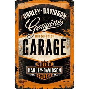 Nostalgic Art Tin Sign Harley Davidson Garage 20x30