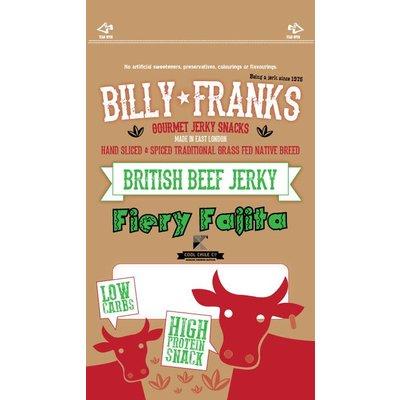 Billy Franks Fiery Fajita Beef Jerky 40 gram